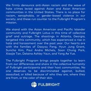 We Stand with the Asian American and Pacific Islander Community